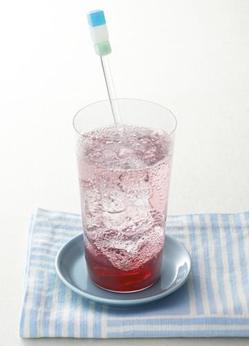 ブルーベリー黒酢ソーダ