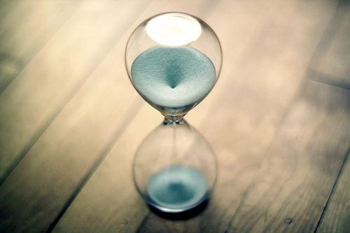 時間を計る砂時計