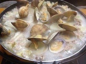 簡単節約白菜&塩麹豚&浅利激甘出し汁鍋