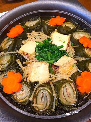 昆布の豚肉白菜ロール鍋