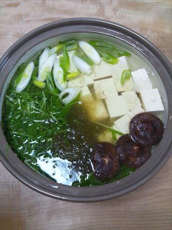 おぼろ昆布を使って鍋de湯豆腐