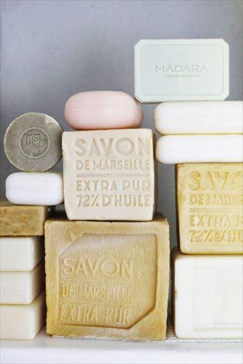 数種類の石鹸