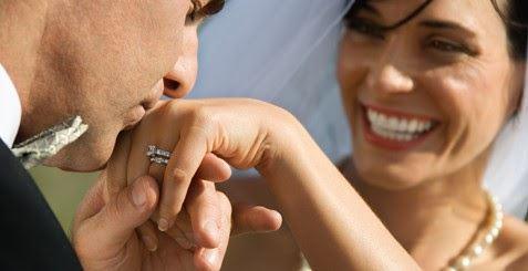 女性の手にキスをする男性