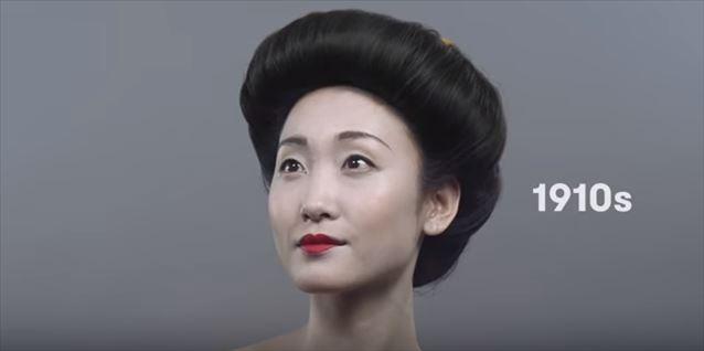 日本のヘアメイクトレンド100年史動画キャプチャ3