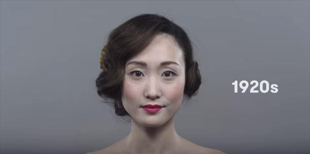 日本のヘアメイクトレンド100年史動画キャプチャ4