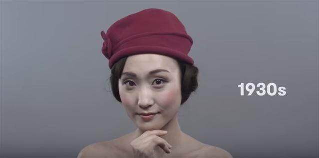 日本のヘアメイクトレンド100年史動画キャプチャ5