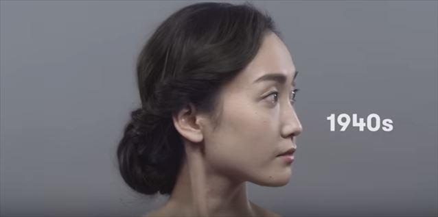日本のヘアメイクトレンド100年史動画キャプチャ6