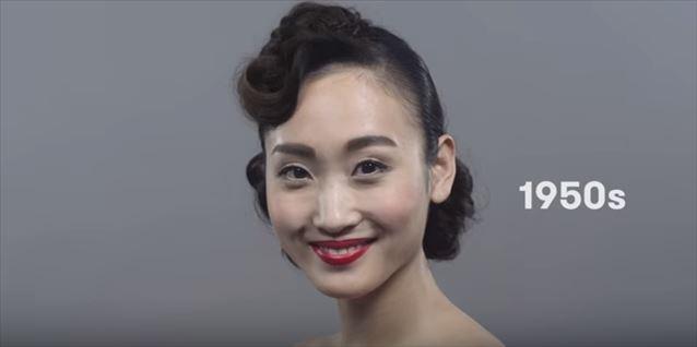 日本のヘアメイクトレンド100年史動画キャプチャ8