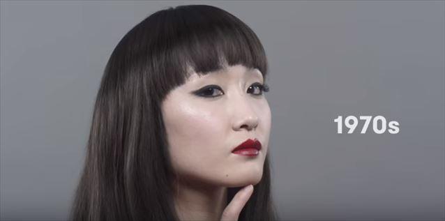 日本のヘアメイクトレンド100年史動画キャプチャ10
