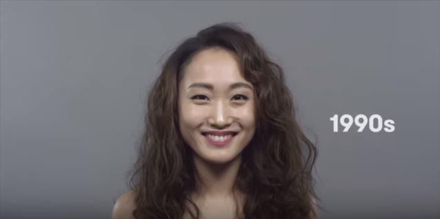 日本のヘアメイクトレンド100年史動画キャプチャ13
