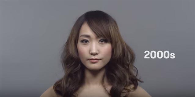 日本のヘアメイクトレンド100年史動画キャプチャ15