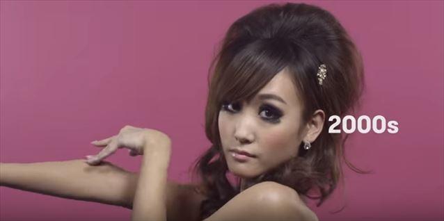 日本のヘアメイクトレンド100年史動画キャプチャ16