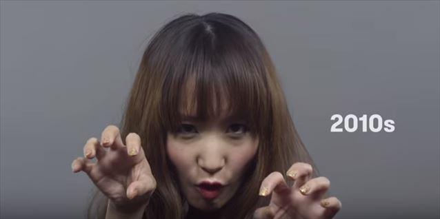 日本のヘアメイクトレンド100年史動画キャプチャ17