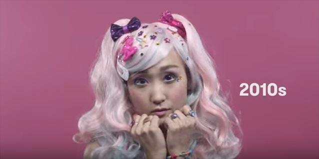 日本のヘアメイクトレンド100年史動画キャプチャ18