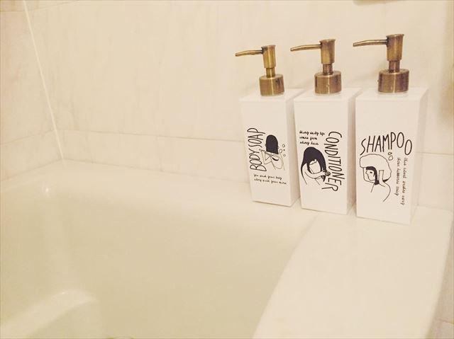 ロフトのオシャレで可愛いシャンプーボトルの画像