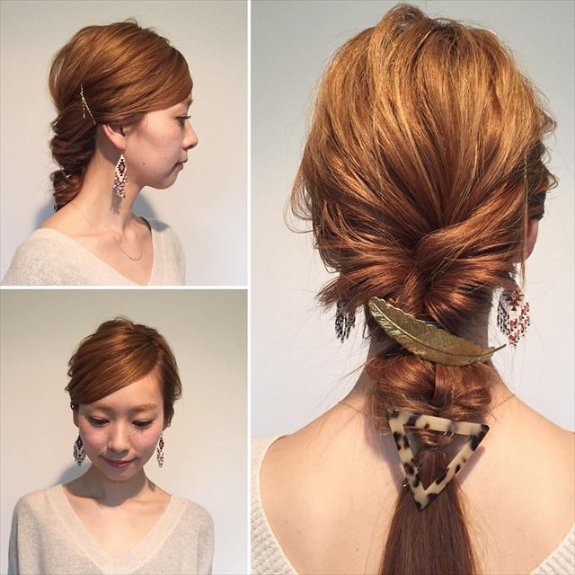 人気インスタグラマーYU-Uさんのヘアアレンジ画像1