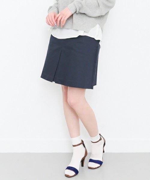 KBF「ウエストゴム台形スカート」