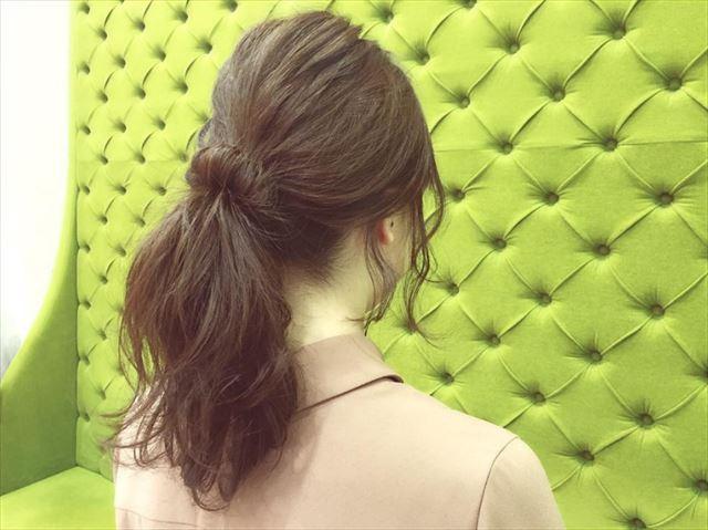 ドーナツポニーテールの代表的なヘアアレンジ例