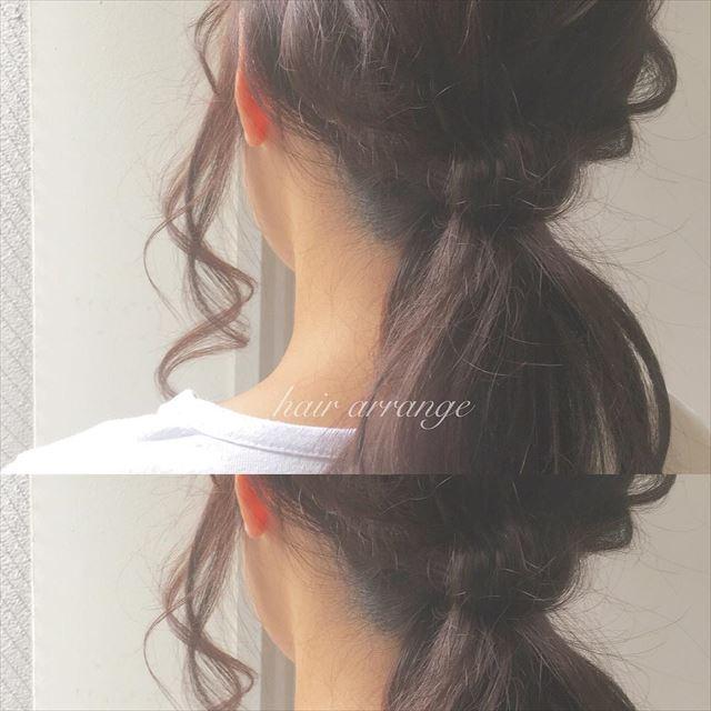 ドーナツポニーテールのオシャレ可愛いヘアアレンジ画像5