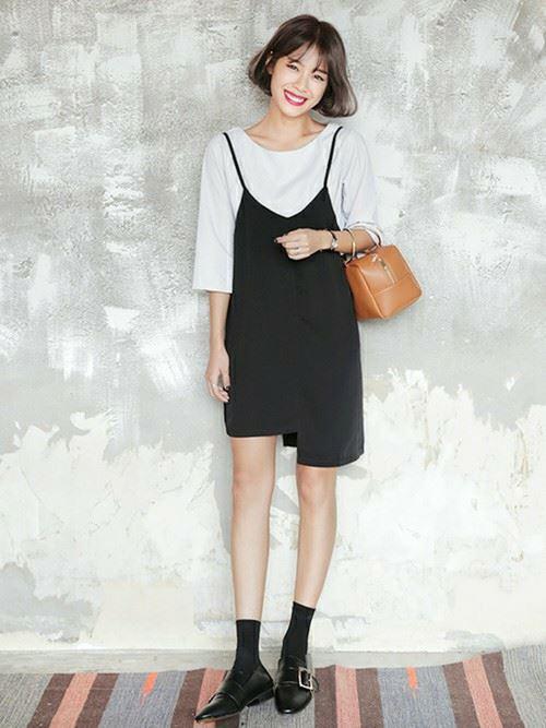 春夏のオルチャンファッションをした韓国女性のコーデ画像4