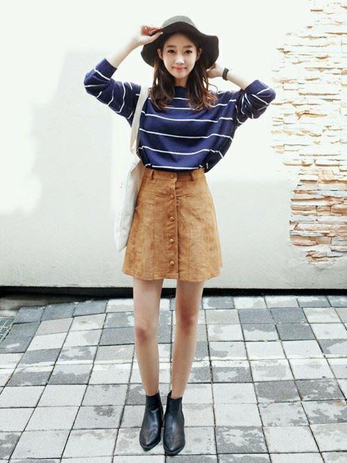 韓国オルチャンファッションのレディース春コーディネート画像1