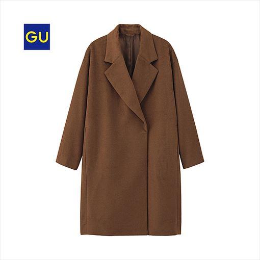 GU ウールブレンドビッグチェスターコートの商品画像4
