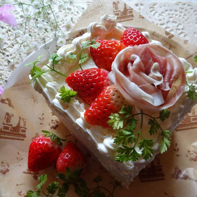 おしゃれなサンドイッチケーキの画像1