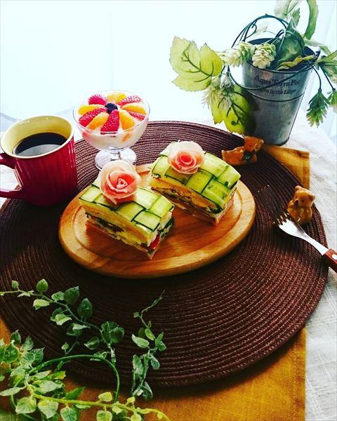 おしゃれなサンドイッチケーキの画像5