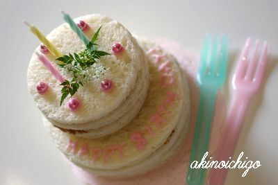 小さなサンドイッチケーキ♪