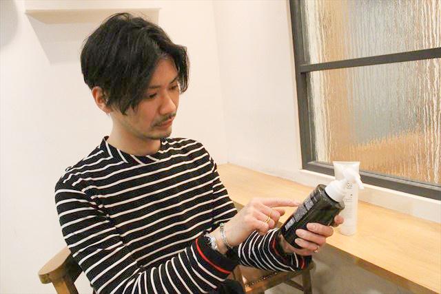 銀座美容室RISO(リソ)美容師のBUNTAがチャップアップシャンプーについて語っている画像2