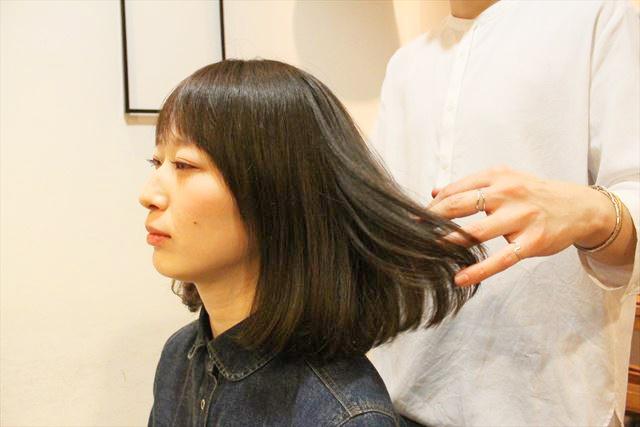 チャップアップシャンプー使用後の女性の髪の状態画像3