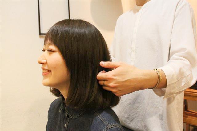 チャップアップシャンプー使用後の女性の髪の状態画像4