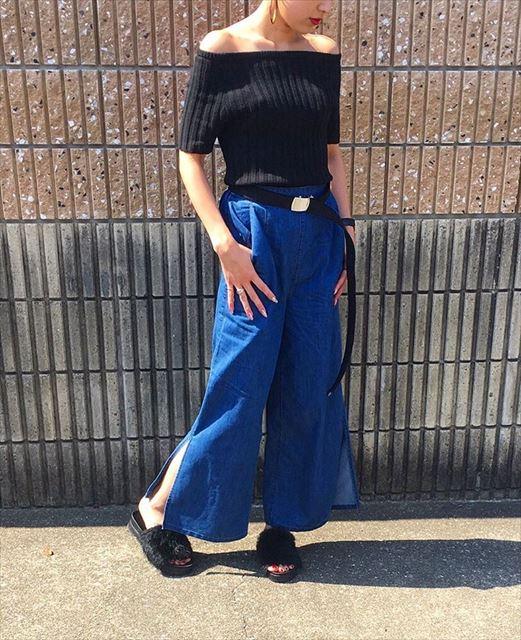 GUのパラッツオパンツを着こなした春夏コーディネート画像2