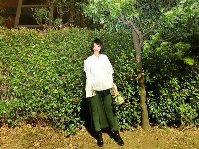 GUのパラッツオパンツを着こなした春夏コーディネート画像5