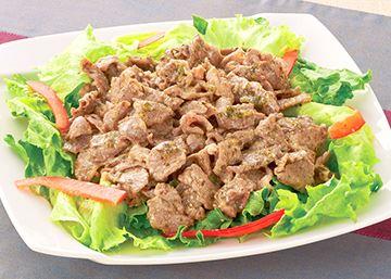 ラム肉のパクチー炒めの画像