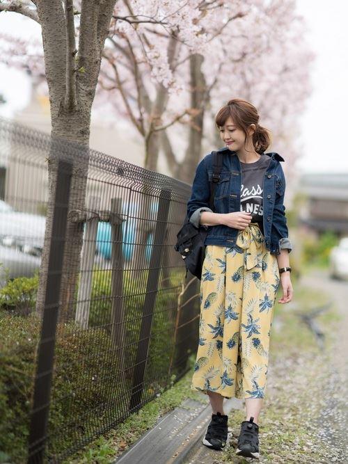 Reebokインスタポンプフューリーをパンツで着こなした春夏コーディネート画像4