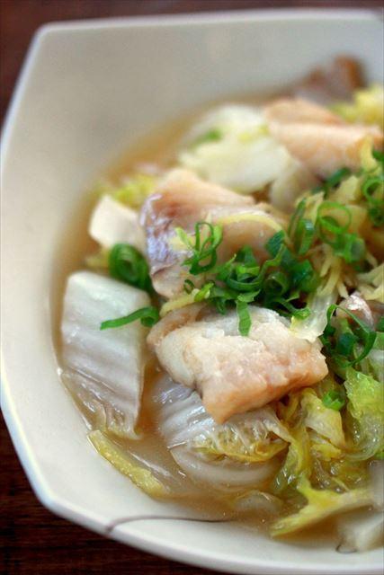 下味冷凍:タラと白菜のレンジ蒸し