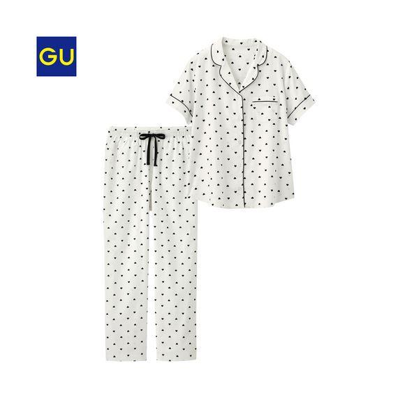 GU「パジャマ ハート半袖」