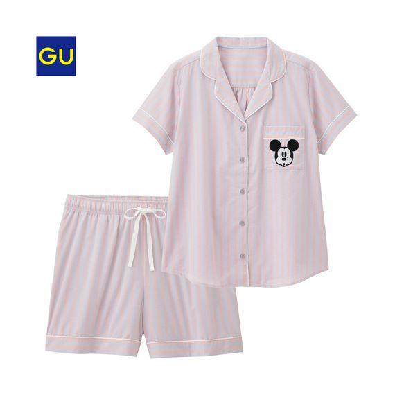 GU「パジャマ(ストライプ・半袖)」