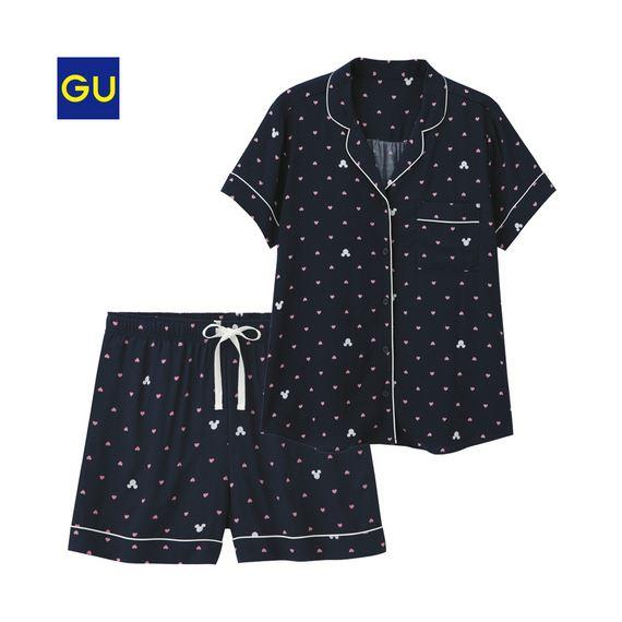 GU「パジャマ(半袖・ショートパンツ)(ディズニー)B」
