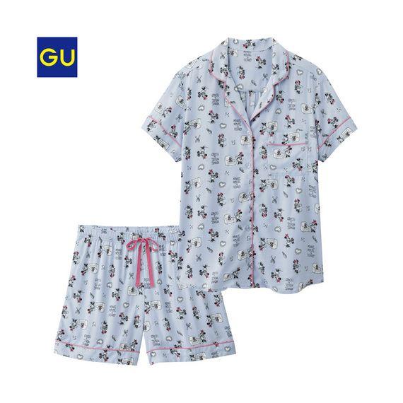 GU「パジャマ(半袖・ショートパンツ)(ディズニー)A」