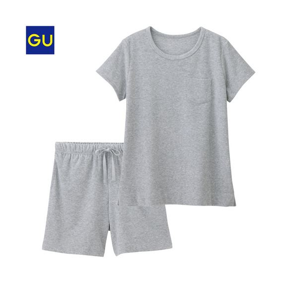 GU「パイルラウンジセット(半袖)」