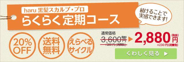haru公式サイト限定の定期コースバナー画像