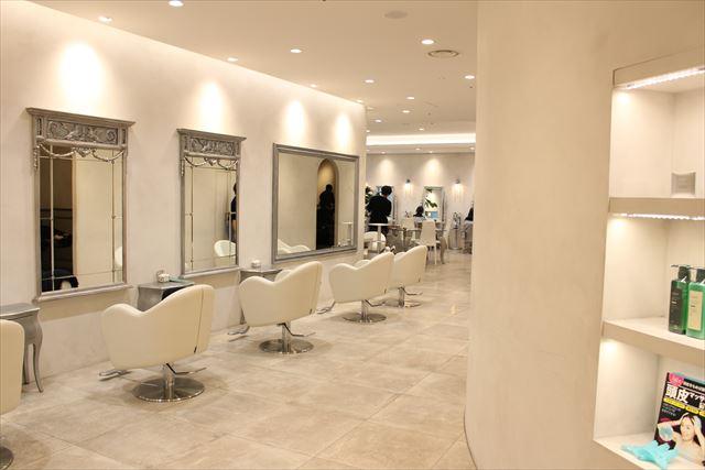 美容室ZACCの店内風景