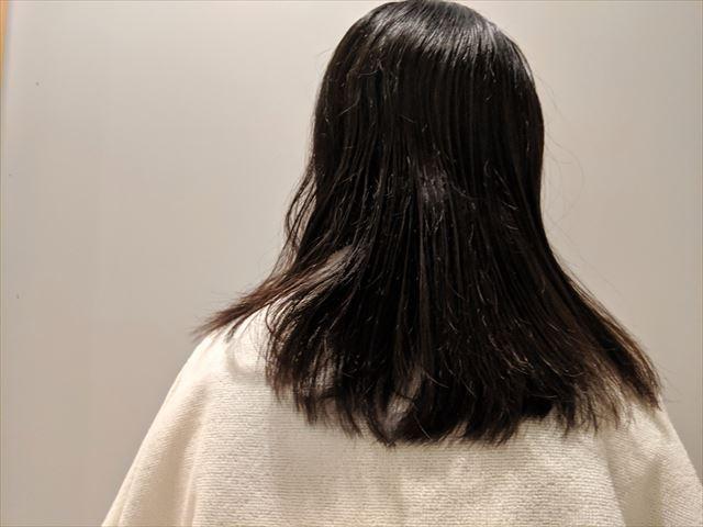 ブローした後の髪の画像