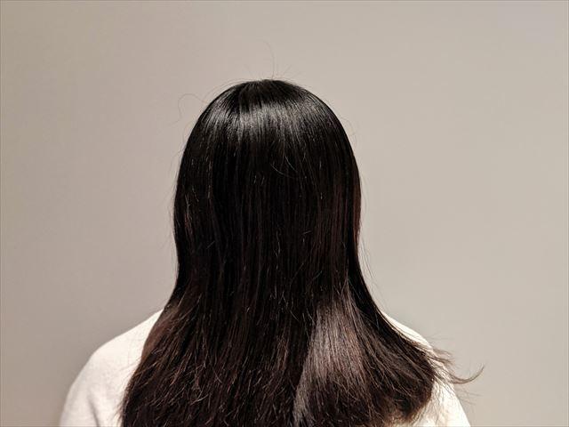 ラサーナプレミオールのヘアエッセンスで仕上げた髪の画像1