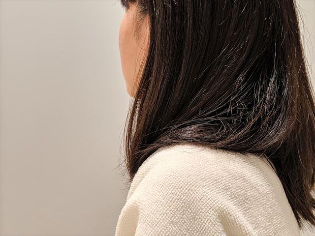 ラサーナプレミオールのヘアエッセンスで仕上げた髪の画像2