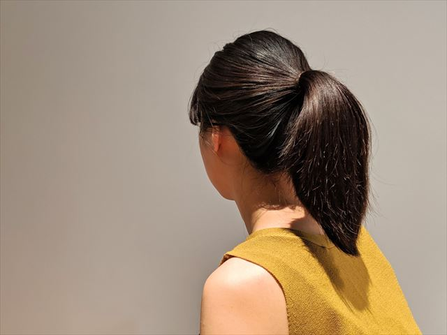 ラサーナプレミオール使用後にヘアアレンジした画像1