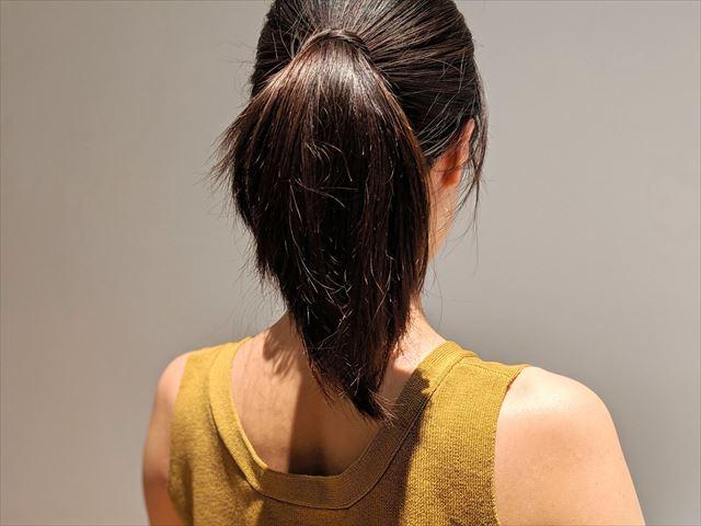 ラサーナプレミオール使用後にヘアアレンジした画像2