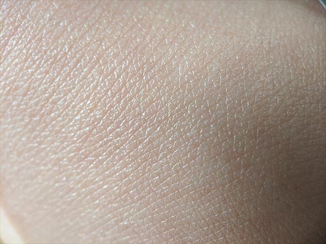 HANAオーガニックで保湿した皮膚のアップ画像